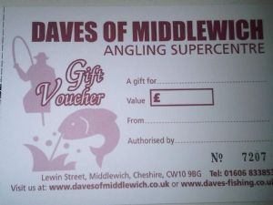 Daves of Middlewich GIFT VOUCHER - amounts from